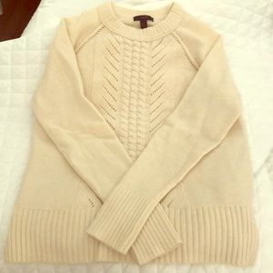 Jcrew cream 100% wool sweater